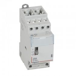 Legrand - Contacteur de puissance CX³ commande manuelle bobine 24V~ - 2P 400V~ - 25A - contact 4F - 2 M - Rèf : 412517