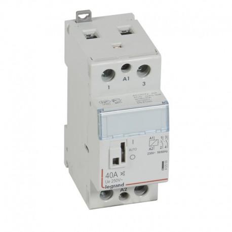 Legrand - Contacteur de puissance CX³ silencieux bobine 230V~ - 2P 250V~ - 40A - contact 2F - 2 M - Rèf : 412559