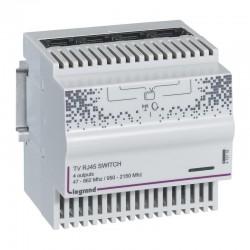 Legrand - Répartiteur modulaire télévision TNT et satellite 4 sorties RJ45 - 4 modules - Réf : 413118