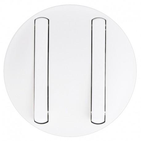 Legrand Céliane - Enjoliveur - Double VV/Poussoir - Doigt Etroit Blanc - Réf : 065002