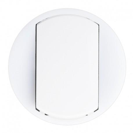 Legrand Céliane - Enjoliveur - VV / Poussoir avec Couronne Lum - Doigt Large Blanc - Réf : 065004
