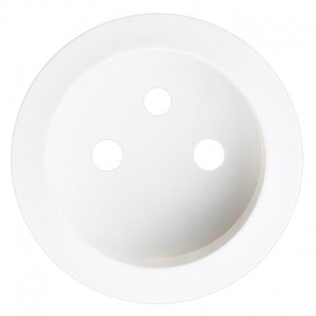 Legrand Céliane - Enjoliveur - Prise 2P+T Standard - Blanc - Réf : 068112