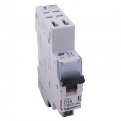 Legrand - Disjoncteur DNX³ 4500 - auto/auto - U+N 230V~ 16A - 4,5kA - courbe C - 1 module - Réf : 406783