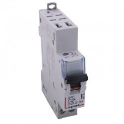 Legrand - Disjoncteur DNX³ 4500 - auto/vis - U+N 230V~ 25A - 4,5kA - courbe C - 1 module - Réf : 406785
