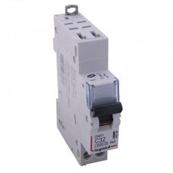 Legrand - Disjoncteur DNX³ 4500 - auto/vis - U+N 230V~ 32A - 4,5kA - courbe C - 1 module - Réf : 406786