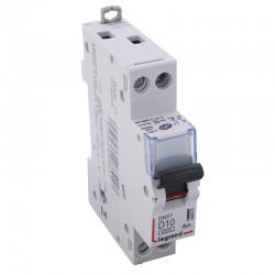 Legrand - Disjoncteur DNX³ 4500 - vis/vis - U+N 230V~ 10A - 4,5kA - courbe D - 1 mod - Réf : 406801
