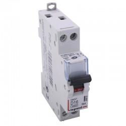 Legrand - Disjoncteur DNX³ 4500 - vis/vis - U+N 230V~ 16A - 4,5kA - courbe D - 1 mod - Réf : 406802