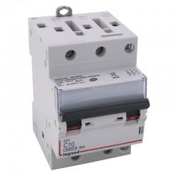 Legrand - Disjoncteur DX³ 4500 - vis/vis - 3P - 400 V~ - 10A - 6kA - courbe C - 1 module - Réf : 406890
