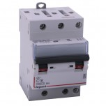 Legrand - Disjoncteur DX³ 4500 - vis/vis - 3P - 400 V~ - 16A - 6kA - courbe C - 1 module Réf : 406892