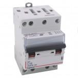 Legrand - Disjoncteur DX³ 4500 - vis/vis - 4P - 400 V~ - 16A - 6kA - courbe C - 3 modules - Réf : 406910