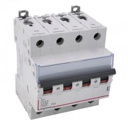 Legrand - Disjoncteur DX³6000 10kA - Vis/Vis - 4P 400~ - 32A - courbe D - pour peigne HX³ traditionnel - Réf : 408120