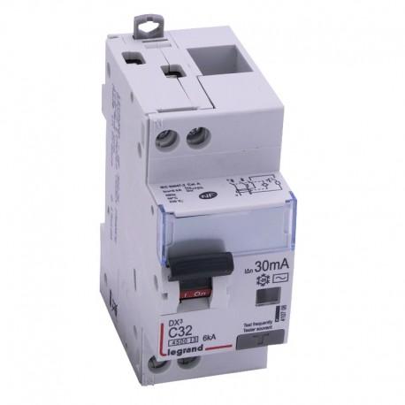 Legrand - Disjoncteur différentiel DX³4500 - vis/vis - U+N 230V~ - 32A typeAC 30mA - courbe C - 2 modules - Réf : 410708