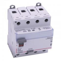 Legrand - Inter diff DX³-ID - vis/vis - 4P - 400V~ - 63A - type AC - 300mA - départ bas - 4M - Réf : 411666