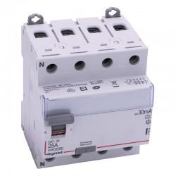 Legrand - Inter diff DX³-ID - vis/vis - 4P - 400V~ - 25A - type A - 30mA - départ bas - 4M - Réf : 411674