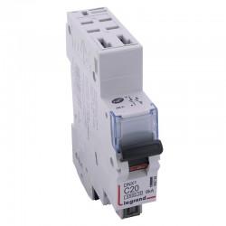 Legrand - Disjoncteur DNX³ 4500 - auto/auto - U+N 230V~ 20A - 6kA - courbe C - 1 module - Réf : 406784