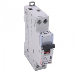 Legrand - Disjoncteur DNX³ 4500 - vis/vis - U+N 230V~ 40A - 6kA - courbe C - 1 module - Réf : 406873