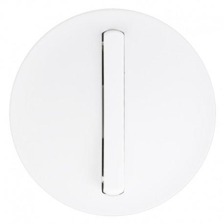Legrand Céliane - Enjoliveur - VV / Poussoir - Doigt Etroit Blanc - Réf : 065001
