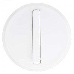 Legrand - Enjoliveur étroit Céliane - Inter/va-et-vient/poussoir lumineux - blanc - Réf : 065003