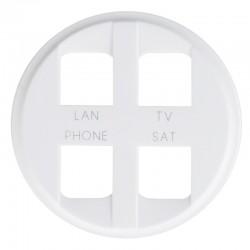 Legrand Céliane - Enjoliveur - Prise quadruple pour Réseau Optimum Auto - Blanc - Réf : 068194