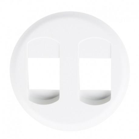 Legrand Céliane - Enjoliveur - Prise HP Double - Blanc - Réf : 068212