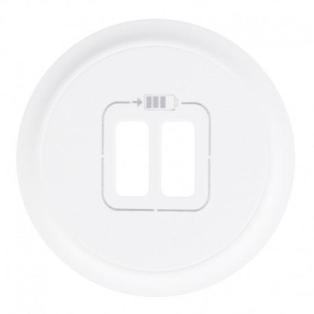 Legrand Céliane - Enjoliveur - Prise Double pour Chargeur USB - Blanc - Réf : 068256