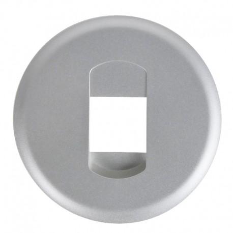 Legrand Céliane - Enjoliveur - Prise HP Simple - Titane - Réf :068511