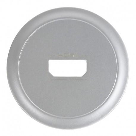 Legrand Céliane - Enjoliveur - Prise Audio/Video HDMI - Titane - Réf : 068516