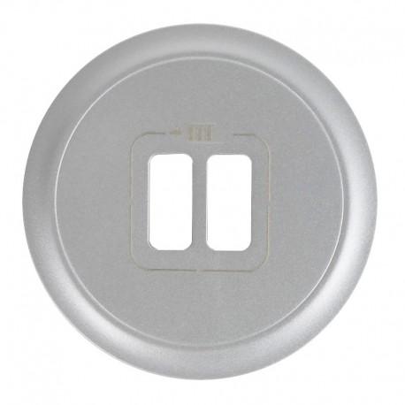 Legrand Céliane - Enjoliveur - Prise Double pour Chargeur USB - Titane - Réf : 068556