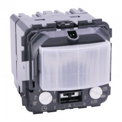 Legrand - Détecteur de mouvements toutes lampes 2 fils Céliane sans neutre - Réf : 067026
