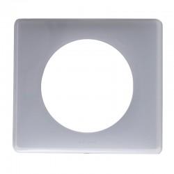Legrand - Plaque Céliane - Laqué - 1 poste - finition Gris perle - Réf : 066601