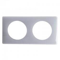 Legrand - Plaque Céliane - Laqué - 2 postes - finition Gris perle - Réf : 066602