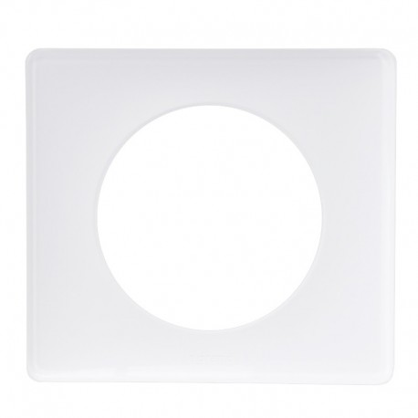 Legrand - Plaque Céliane - Laqué - 1 poste - Blanc Yesterday - Réf : 066631