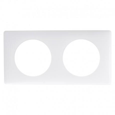 Legrand - Plaque Céliane - Laqué - 2 postes - Blanc Yesterday - Réf : 066632