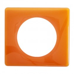 Legrand - Plaque Céliane - Laqué - 1 poste - Orange 70's - Réf : 066651