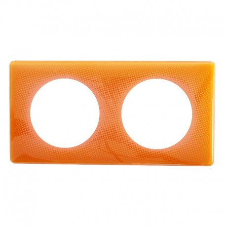 Legrand - Plaque Céliane - Laqué - 2 postes - Orange 70's - Réf : 066652