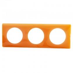 Legrand - Plaque Céliane - Laqué - 3 postes - Orange 70's - Réf : 066653