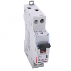 Legrand - Disjoncteur DNX³ 4500 - vis/vis - U+N 230V~ 2A - 4,5kA - courbe C - 1 module - Réf : 406771