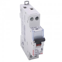 Legrand - Disjoncteur DNX³ 4500 - vis/vis - U+N 230V~ 16A - 4,5kA - courbe C - 1 module - Réf : 406774