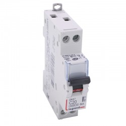 Legrand - Disjoncteur DNX³ 4500 - vis/vis - U+N 230V~ 20A - 6kA - courbe C - 1 module - Réf : 406775