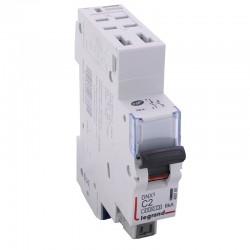 Legrand - Disjoncteur DNX³ 4500 -auto/auto - U+N 230V~ 2A - 4,5kA - courbe C - 1 mod - Réf : 406780