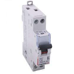Legrand - Disjoncteur DNX³ 4500 - vis/vis - U+N 230V~ 6A - 4,5kA - courbe C - 1 module - Réf : 406772
