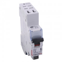 Legrand - Disjoncteur DNX³ 4500 - auto/auto - U+N 230V~ 6A - 4,5kA - courbe C - 1 module - Réf : 406781
