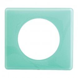 Legrand - Plaque Céliane - Laqué - 1 poste - Turquoise 50's - Réf : 066641