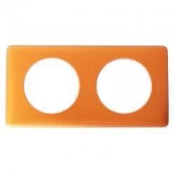 Legrand - Plaque Céliane Métal 2 postes - finition Orange Snake - Réf : 068762