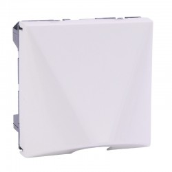 Legrand Mosaic - Sorties de câbles - avec serre-câbles - 2 modules - blanc - Réf : 077550