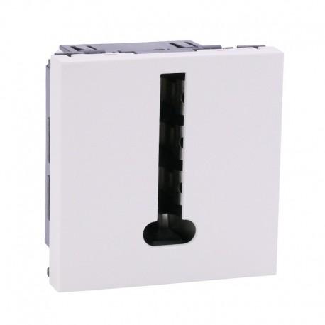 Legrand Mosaic - Prise téléphone - 8 contacts - 2 modules - blanc - Réf : 078738