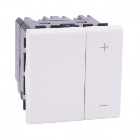 Legrand Mosaic - Ecovariateur universel pour lampes éco 2 fils sans neutre - blanc - Réf: 078407