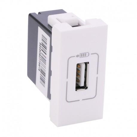 Legrand Mosaic - Alimentation USB 230 V / 5 V - 1 port - 1 module - blanc - Réf : 077591