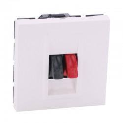 Legrand Mosaic - Prise haut-parleur - bornier 4 mm² - 2 modules - blanc - Réf : 078751