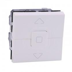 Legrand Mosaic - inter pour volets roulants - 2 modules - blanc - Réf: 077026